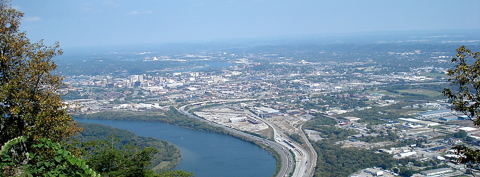 View of Chattanooga from Point Park on Lookout Mountain.  (Photo Credit: Chris Green)